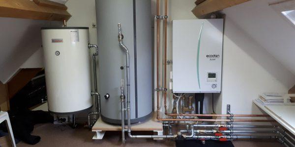 Deze set bestaat uit een Zubadan-inverter buiten-unit en de Hydrobox binnen-unit. De Hydrobox zet de door de Zubadan-inverter uit de buitenlucht onttrokken energie om in ruimteverwarming en warm tapwater. De Zubadan-inverter levert tot een buitentemperatuur van -15°C nog 100% vermogen.